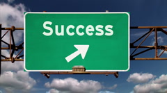 Business Success Road Sign 1942 Stock Footage