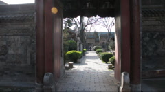Door of  chinese building Stock Footage
