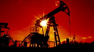 Working oil pumps Stock Footage