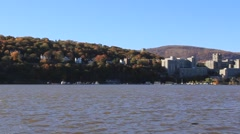 View of West Point Military Academy (HD) k - stock footage