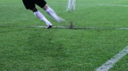 Soccer goalkeeper's action shot (slow motion) Stock Footage