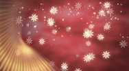 Stock Video Footage of Snowflakes with Red Accent