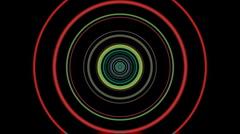 Vj loop circle 01 Stock Footage