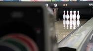 Bowling Strike Stock Footage