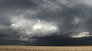 Stock Video Footage of Surreal Storm Clouds on Plains Timelapse