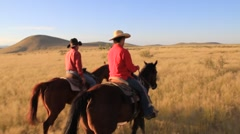 Cowboys riding horses(HD) k Stock Footage