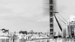 London eye millenium wheel tourist city urban Stock Footage