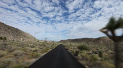 Timelapse Driving in Joshua Tree National Park Stock Footage