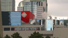 Canadian Broadcasting Corporation headquarters Stock Footage
