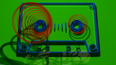 flat cassette audio sound tape music - stock footage