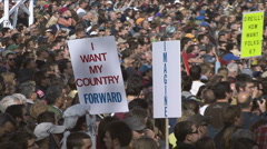 Jon Stewart's Rally to Restore Sanity  - stock footage