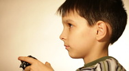 Games console,  boy Stock Footage
