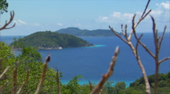 Similan Islands Thailand top view over islands - stock footage