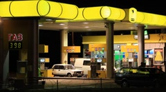 Gasoline stand Stock Footage