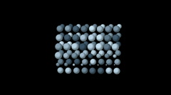 Table tennis balls egg droplets drops background,printing weaving backdrop. Stock Footage