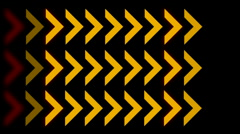 Direction arrow queue design signs background,game software process backdrop. Stock Footage