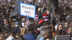 Jon Stewart's Rally to Restore Sanity  Stock Footage