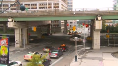 Traffic on and under the Gardiner expressway Stock Footage