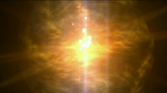 Fire ball sphere nebula background,magic power energy tech,nuclear atom. Stock Footage