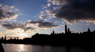 Moscow, Kremlin Embankment Time Laps Stock Footage