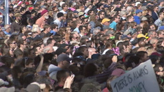 Crowd Jumps At Same Time at Jon Stewart's Rally to Restore Sanity  - stock footage