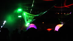 Desert Dance and Music Festival w laser lights - stock footage