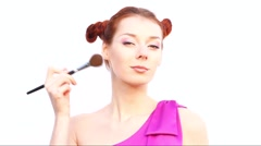 Playful makeup - stock footage