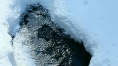 Snow, ice and water. Stock Footage