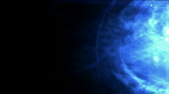 Blue nebula and whirl laser,energy tech background.Waterfalls,river,water,lake Stock Footage