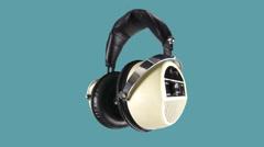 Headphone music dj party audio sound earphones Stock Footage