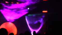 Desert Dance and Music Festival w laser lights Stock Footage