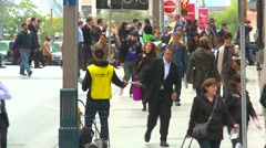 Rush hour, people going home, crowds medium Stock Footage