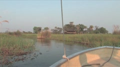 Boating in the Okavango Delta Stock Footage