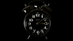 Old Clockwork Alarm Clock, With Sound Stock Footage
