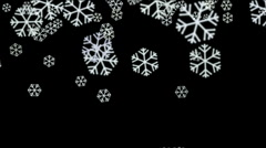 Snowflake fall winter snow background christmas particles fireworks backdrop. Stock Footage