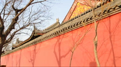 Chinese traditional roof of palace  Stock Footage