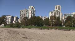 Vancouver Ocean Beach English Bay, Canada Stock Footage