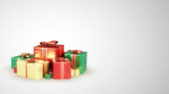 Holiday gift boxes with place for your text. Loopable Stock Footage