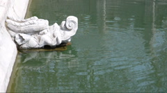 Chinese dragon head fountain Stock Footage