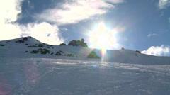 snow sun - stock footage