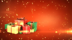 Holiday gift boxes with place for your text. Loopable - stock footage