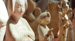 Ancient palace maid in china Stock Footage