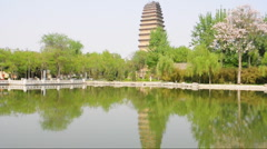 Small wild goose pagoda in xi'an china Stock Footage