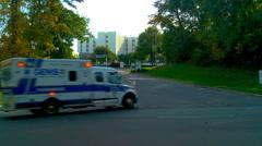 Ambulance flashing lights Stock Footage