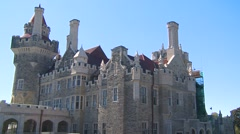 Architecture, casa loma, wide shot Stock Footage