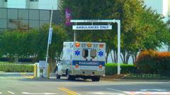 Ambulance flashing lights 02 Stock Footage