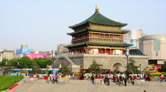Bell Tower in Xi'an, China - stock footage