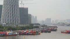 Boat Parade in Pearl River - 005 Stock Footage