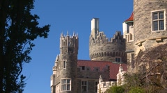 Architecture, casa loma detail, turret and tower Stock Footage