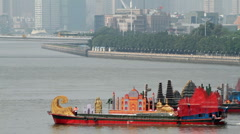 Boat Parade in Pearl River - 004 Stock Footage